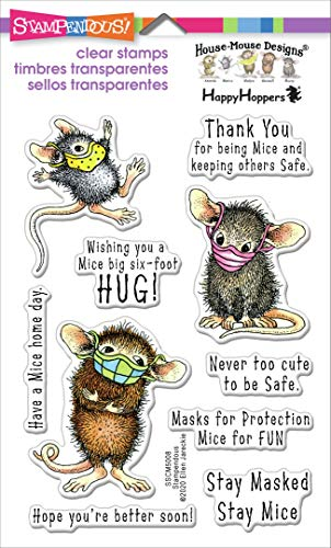 Stampendous House Mouse Masked Mice Clear Stamp Set