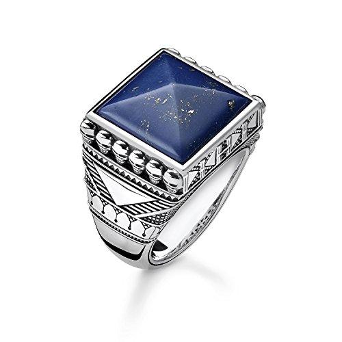 THOMAS SABO Herren-Ringe 925 Sterlingsilber mit '- Ringgröße 60 TR2206-531-1-60