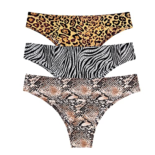 Women Comfy Underwear Women Sexy Lingerie Temptation Low-Waist Panties Thong Transparent Underwear Intimates(Multicolor,X-Large)