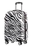 BEIBYE Reisekoffer Hartschalen Hardcase Trolley Zahlenschloss Polycarbonat Set-XL-L-M- Beutycase (Zebra, L)