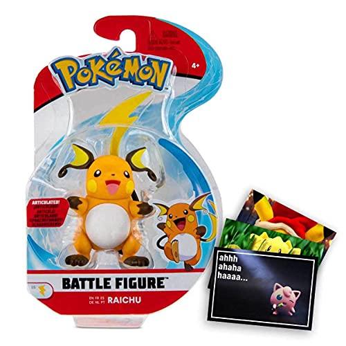 Lively Moments Pokemon Battle Pack 1er Figuren Set Raichu und Exklusive GRATIS Grußkarte