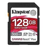 キングストン SDXCカード 128GB 最大300MB/s UHS-II V90 4K 8K UHS-IIカードリーダー付属 Canvas React Plus MLPR2/128GB 永久保証