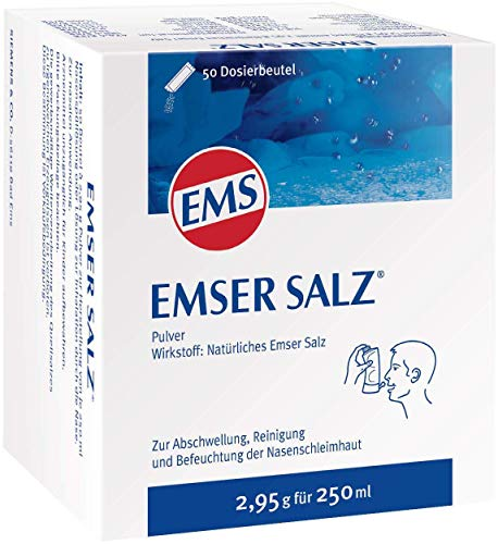Emser Salz zur Verwendung mit der Emser Nasendusche – Bei Erkältung als Alternative zu Nasenspray – 50 x 2,95 g Beutel