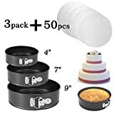 Springform Pan set,Nonstick Leakproof 3pcs(4'/7'/9') Cake Pan Bakeware Cheesecake Pan with 50 Pcs...