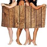 N/A Toallas de Playa Extra Grandes de 80 x 130 cm de Microfibra para Hombres y Mujeres, Ideal para Nadar, SPA, Viajes, Yoga, Deportes, Camping, Tumbona, bañera, Paneles de Madera