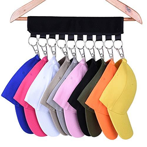 1 confezione da 10 appendiabiti da baseball, cappelliera per armadio, cambiate le grucce in tessuto nell'organizer – Mantenete i vostri cappelli più puliti di un porta cappello