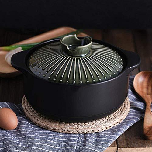 zyl Pot à ragoût Batterie de Cuisine en Terre Cuite résistante aux Hautes températures-Green_4.2L