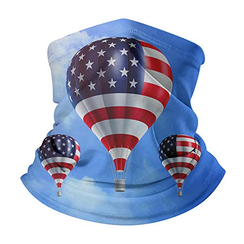 sswyfc 3D digitale afdrukken Hot lucht ballon patroon Magic Turban buisvormige stofdichte gezicht bescherming voor mannen en vrouwen