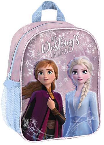 Disney Eiskönigin 3D Frozen Anna ELSA Set 2 TLG Kindergartenrucksack Kindergartentasche/sehr leicht/geräumig / 28x22x10 cm/Kinderrucksack/inkl. Sticker von SCOOLSTAR