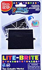 Word's Smallest Lite-Brite - Yes! Actually Works! Includes: 1 Lite Board, 150 Pegs, 15 Sheets, 3 Batteries (LR44/1.5V) Board Measures 3 Inches Wide x 2.75 Inches High Put in Picture Outline - Insert Color Glow Pegs - Watch Them Light Up! Ages 8+