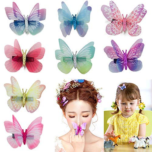Baby Girl's Hair Clips Cute Hair Bows Baby Elastic Hair Ties Hair Accessories Ponytail Holder Hairpins Set For Baby Girls Teens Toddlers, Assorted styles, 36 pieces Pack (PH-0104)