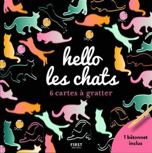 Hello les chats - 6 cartes à gratter