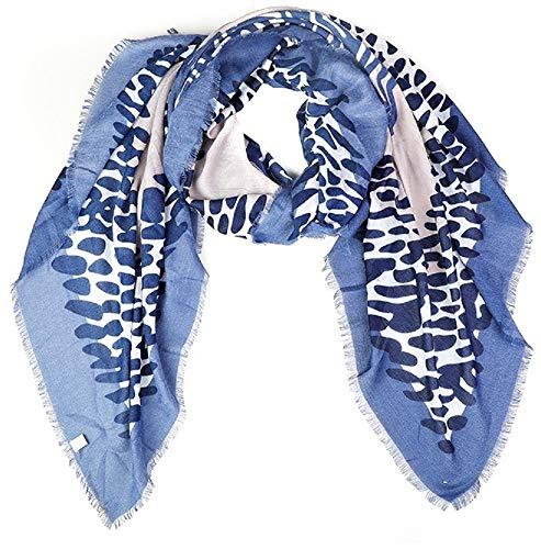 Dielay sjaal met dierenprint uit polyester 140x140 cm