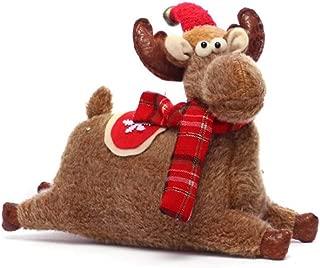 Cartoon plush deer doll Christmas mall window decoration props (Point cap)