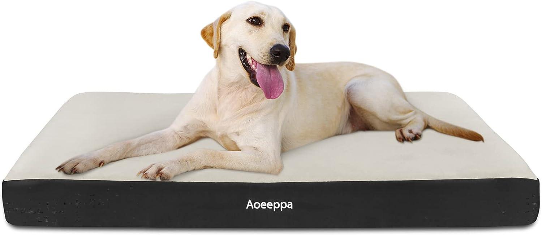 Aoeeppa Cama Perro Ortopédica, Cojines para Perros Espuma con Memoria, Colchón Perro Lavable con Funda Desenfundable, Antideslizante y lmpermeable, XL (104x74x8cm)