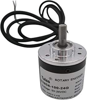 Taiss/AB 2 Phase Incremental Rotary Encoder 100P/R DC 5-24v Wide Voltage Power Supply 6mm Shaft ( 1 Years Warranty)100P/R