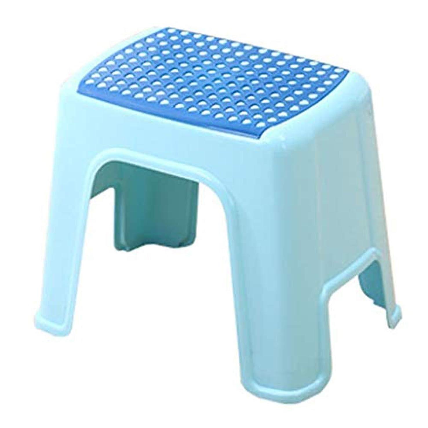 パッチを通して神のHJBHスツールプラスチックスツールバスルーム家庭用ランドリースツールベビーバスルームアンチスキッドチェアフットスツールマッサージシューズスツール - ブルー/グリーン (Color : Blue)