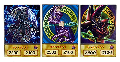 Orica Karten-Set: 3 Dunkler Magier Common im Yugioh Anime Design | inklusive 100 Arkero-G Small Card Sleeves