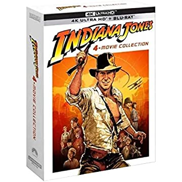 Coffret Digipack Indiana Jones 4 Films [Combo 4 UHD 5 BLURAY [4K Ultra HD Blu-Ray Bonus-Édition Limitée]