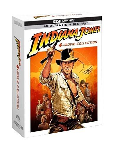 Coffret Digipack Indiana Jones 4 Films [Combo 4 UHD 5 BLURAY [4K Ultra HD Blu-Ray Bonus-Édition Limitée]