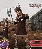 Costumizate! Disfraz de Vikinga Talla 7-9 Especial para niñas Fiestas de Disfraces o Carnaval