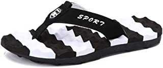 Flip Flops Summer Shoes Men's Outdoor Sandals Summer Breathable Beach Shoes (Color : Black, Size : 48)