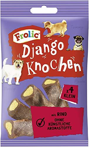Frolic Hundesnacks Hundeleckerli Django Mini Knochen für kleine Hunde <10kg mit Rind, 32 Stück (8 x 4 Stück)