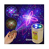 Chims Mini Laser Lights Portable Rechargeable Cordless RGB 30 Patterns Laser Music Activated Laser Lights for Christmas Festival Party Disco Birthday Gift DJ Party Xmas Travel Garden Forest Camping
