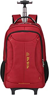 GLJJQMY Travel Bag Backpack Outdoor Hiking Bag Large Capacity Trolley Shoulder Bag Detachable Multifunction Trolley Backpack (Color : Red, Size : 54x32x22cm)