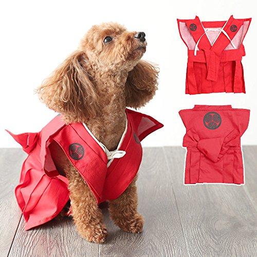 BEATONJAPAN 犬 服 和服 裃 レッド 節分 卒業式
