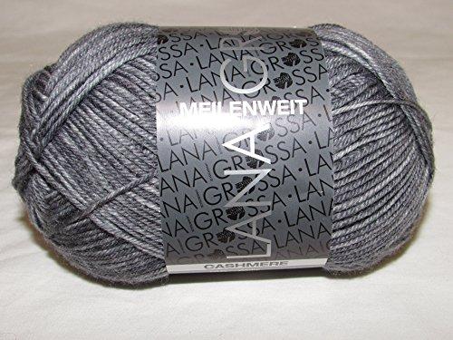 Meilenweit 50g Cashmere 7 - Grau/Weiß