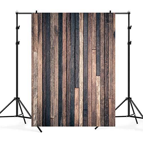 Ommda Vintage Houten Plank Photo Achtergrond Vloer Vinyl Fotografie Achtergrond Niet Reflecterend voor Partij Photobooth Video Opnamen, HSSY-FGMB-4, 3x6m(WxL)