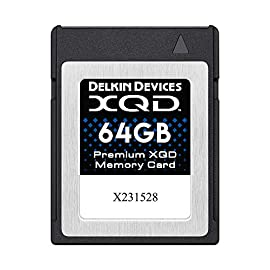 Delkin Devices 64GB Premium XQD Memory Card (DDXQD-64GB) 11 Records 4K & Full HD 1080P video at high frame rates & Bit rates Raw continuous burst ready Read/Write speeds: 440/400 MB/s