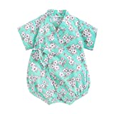 Bebé Kimono Mameluco Japonés Sakura Algodón Infantil Cómodo Pijamas 3-24 Meses