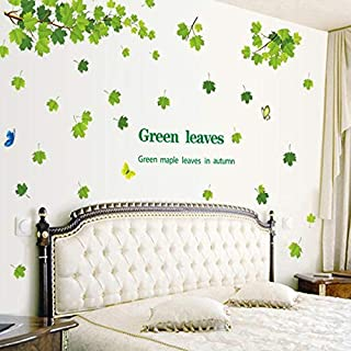 DIY Removable Wall Stickers For Living Room Home Decor - Green leaf