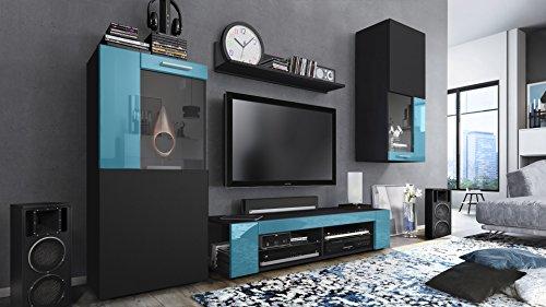 Wohnwand – Modern in schwarz kaufen  Bild 1*