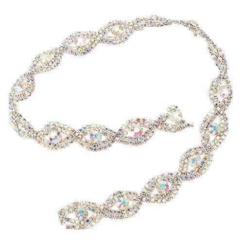 Aeloa strassbezetten, 1,5 cm breedte 1 yard fonkelende kristallen strassband klauau-ketting voor vrouwen bruidsjurk halsketting schoenen