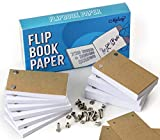 Blank Flip Book Paper With Holes - 720 Sheets (1480 Pages) Flipbook Animation