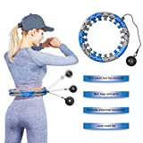 YouTen 2020 New Version Weighted Hula Hoop- Hoola Hoop for Adults and Kids, Smart Hula Hoop with 360 Degree Massage and 24 Detachable Sections Blue