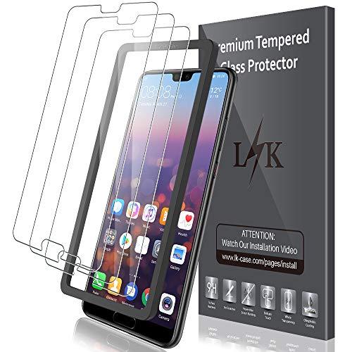 LK Panzerglas für Huawei P20 Pro, 3 Stück Huawei P20 Pro Schutzfolie, 9H Härte Panzerglasfolie, HD Klar Displayschutzfolie, [Anti-Kratzen] [Blasenfrei] [Einfacher Montage]