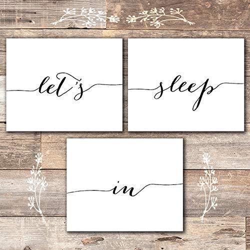 Let's Sleep In Prints