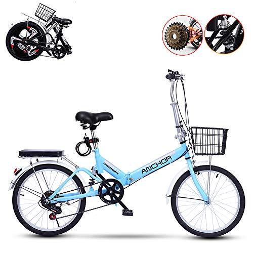 TopBlïng Absorción De Impactos,Velocidad Variable,Mujeres Bicicleta De Ciudad Estudiantes De Bicicleta,Unisex Bicicleta Plegable 20 Pulgadas,para Conmutar Escuela Ciudad Ciclismo,Colores Rueda-C