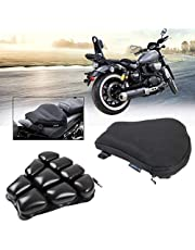 KOLEMOシートクッション バイク エアシート ツーリング 尻痛腰痛解消 ブラック