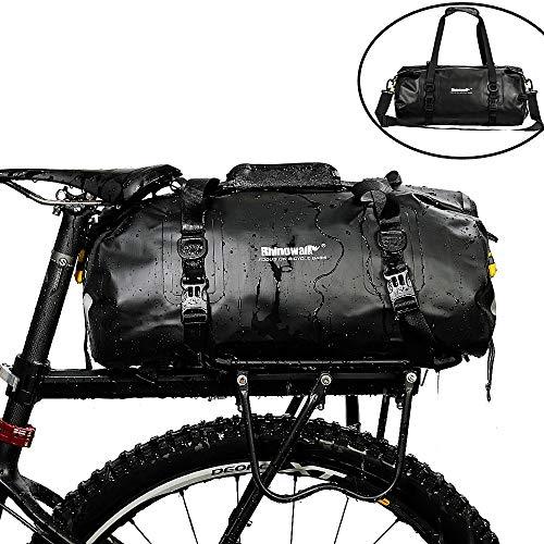 Asvert Rhinowalk Fahrradtasche Gepäckträger Tasche Multifunktionale Fitness-Reisetasche wasserdichte Gepäckträgertasche Fahrrad Hinterradtasche 20L (Schwarz)