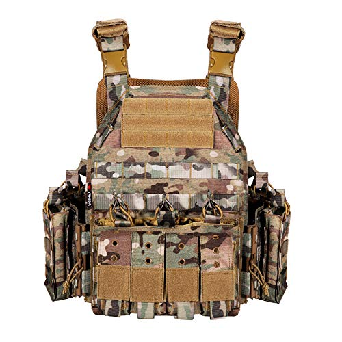 YAKEDA Quick Release Military Tactical Outdoor Vest for Men (CP)