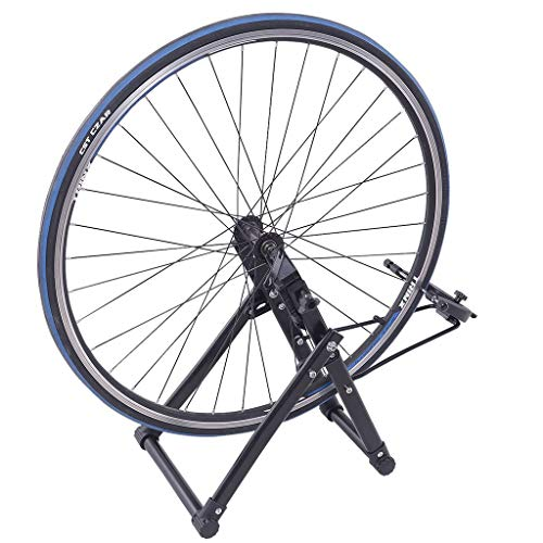 Homefami Bike Wheel Truing Stand Bicycle Quiet Noise Reduction Stationary Black Indoor Outdoor