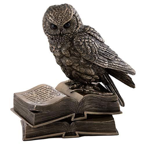 cute owl on books figurine