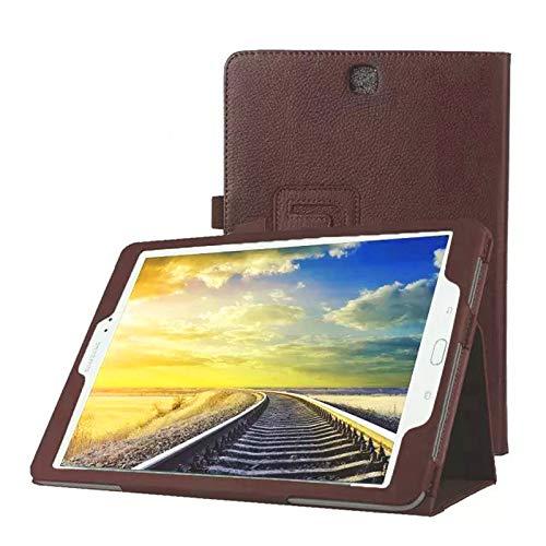 Lobwerk Tasche für Samsung Galaxy Tab A SM-T550 T551 T555 9.7 Zoll Schutz Hülle Flip Tablet Cover Hülle (Braun) NEU