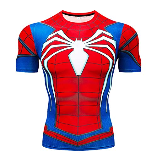 RONGANDHE Men's Super-Hero Compression Sports Fitness T-Shirt Quick-Drying ZZ-short-CY009-XL