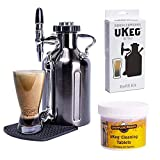 GrowlerWerks uKeg Nitro Cold Brew Coffee Maker 50oz Black Chrome - Refill Kit - Cleaning Tablets